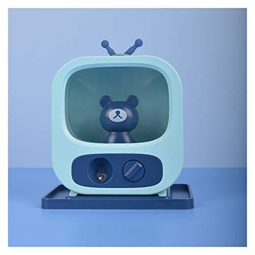 YuShiLiu Umidificatore USB del Fumetto Purificatore del Mini dell'Acqua del Desktop del Desktop del Desktop (Color : Blue Bear, Size : USB)