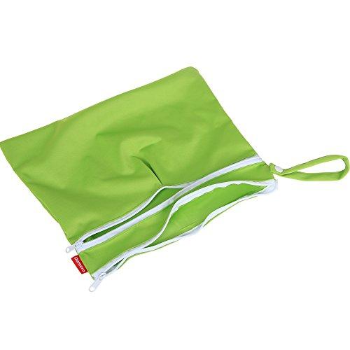 Damai Damero ウェットバック 防水バッグ 2点セット お出かけ 温泉 スポーツ 便利 緑+青