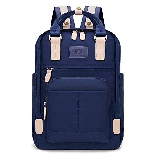 KALIDI Unisex Daypack/Rucksack mit 15 Zoll Laptopfach, Damen Rucksack Herren Tagesrucksack, Wasserabweisende Schultasche für Unterwegs, Blau