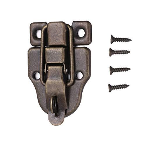 Healifty 6 piezas pestillos de caja de joyería antigua cierre de candado de aleación cerrojo de cerrojo para maletas cajón caja de madera resistente con cerradura de bronce