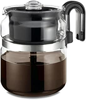 Coffee Maker Pot Medelco 8 Cup Glass Stovetop Stove Top Tea Machine Percolator