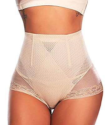 CROSS1946 Butt Lifter Tummy Control Panties Breathable Seamless Everyday Comfort Shaper Briefs Bottom Knickers Apricot L by