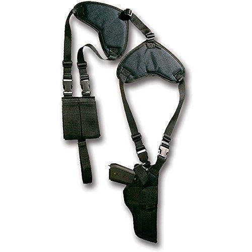 Bulldog Cases Deluxe Orizzontale per Spalla con Fessure e Ammo Pouch, Unisex, Black