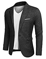 powerful COOFANDY Men's Slim Fit Suit Casual Lightweight Blazer Smoking Smoking One Button
