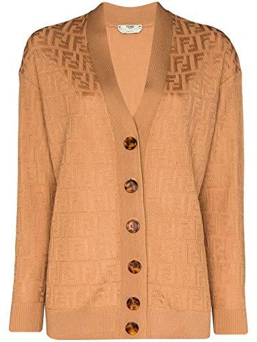 Luxury Fashion | Fendi Dames FZC824ABWQF1AKR Bruin Katoen Vesten | Lente-zomer 20