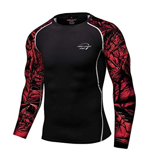 DNOQN Polo Shirt Männer Longsleeve Weiß Männer Atmungsaktiv Langarm Yoga Fitness Druck Sport Soft T-Shirt Top Bluse XXL