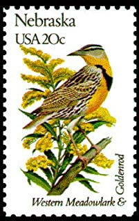 USA 1982 20-Cent Nebraska State Bird and Flower Postage Stamp, Catalog No 1979