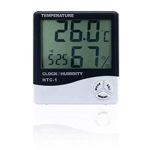 KABINA Elektronische digitale thermometer, luchtvochtigheid voor het huishouden, mini-hygrometer, unisex, volwassenen, wit, M