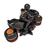 LINXIANG Motor de acrobacias, coche eléctrico de deriva de 2.4G, motocicleta todoterreno de alta velocidad giratoria con control remoto de riel lateral, auto de escalada de deriva inferior giratorio d