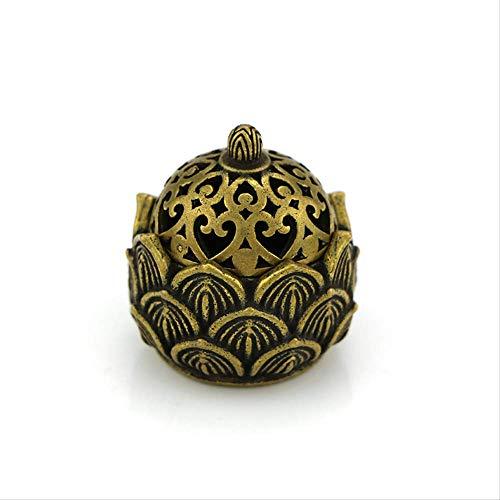 Decoratieve ornamenten Mini Lotus holle messing kleine wierookbrander ornamenten messing micro-gesneden kleine koperen oven antieke koper brons stukken