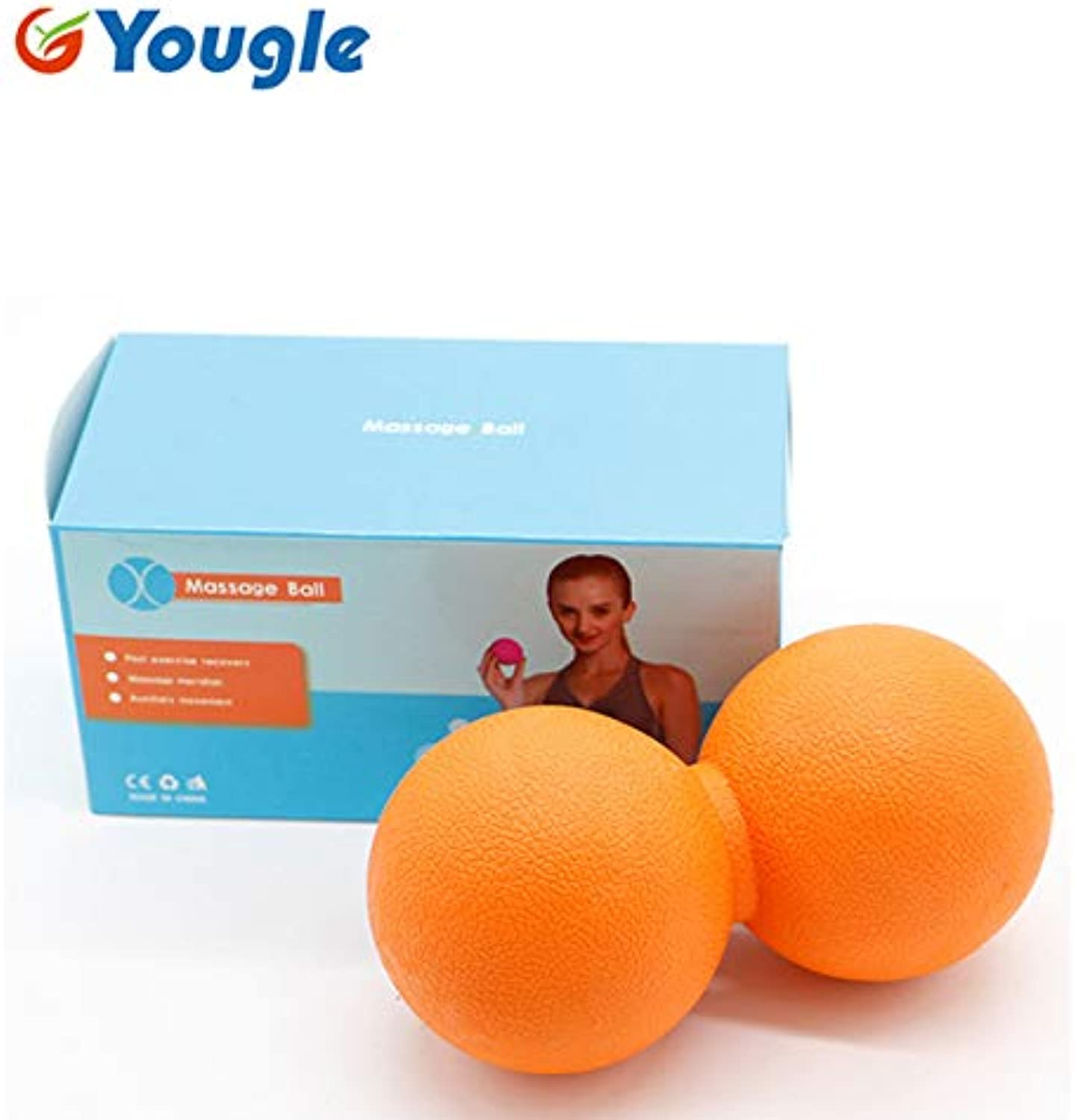 YOUGLE Mas Ball Mas Gym Ball for Myofascial Release Trigger Point Therapy Muscle Knots Yoga Therapy igue Tools   Yellow