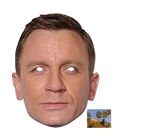 BundleZ-4-FanZ Fan Packs Daniel Craig berühmtheit Single Karte / Pappe Partei Maske Enthält 6X4 (15X10Cm) starfoto
