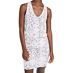 SUNDRY Women's Python Print Sleeveless Dress