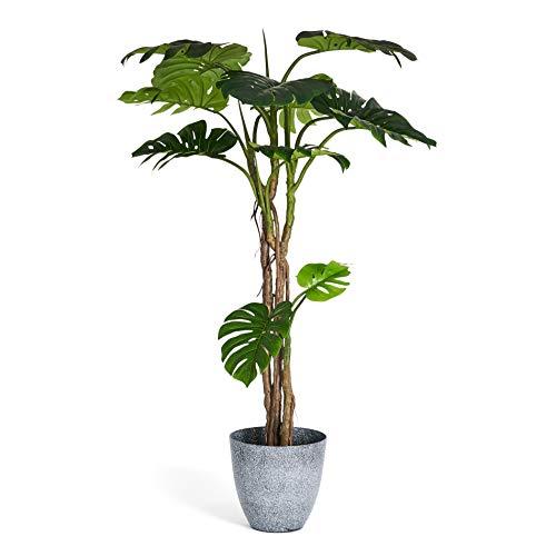 4Ever Green Artificiale Monstera Deliciosa - Filodendro a foglia finta, pianta alta, per casa, stanza, interni, esterni, decorazione in vaso, 180 cm