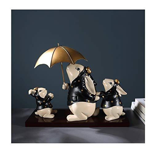 Decorazione dell'ufficio Carino coniglietto coniglio famiglia resina statua decorazione decorazione della casa soggiorno soggiorno cabinet cabinet vino armadio arredamento Decorazioni artigianali crea