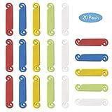 Mila-Amaz 20 Pcs Multicolor Etiqueta del Cable para Marcar Cables