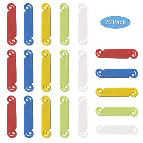 Mila-Amaz 20 Stück Mehrfarbig Kabeletiketten Haltbar Kabelkennzeichnung Beschriften