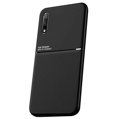 MOONCASE Honor 9X (China) Funda, Carcasa de TPU Suave y a Prueba de Golpes Diseño único Antideslizante Funda para Huawei Honor 9X (China) 6.59' - Negro