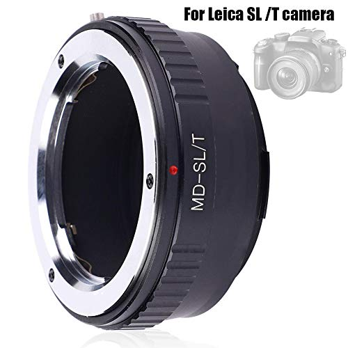 Mavis Laven Camera Lens Adapter Ring, Metalen Lens Adapter Ring voor Minolta MD lens Compatibel met Leica SL/T Camera