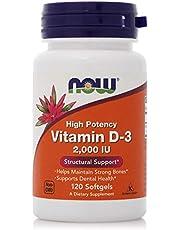 Now High Potency Vitamin D-3 2000Iu Softgels - 120 Softgels