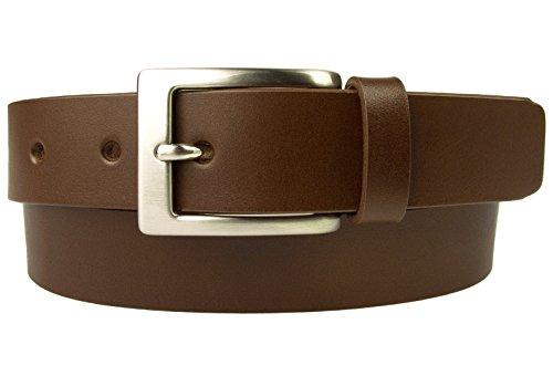Belt Designs Taille 96.5-107 cm (L) – Marron Ceinture en cuir de qualité pour Homme - Fabriqué au Royaume-Uni - BD-0021-30-BRW-L