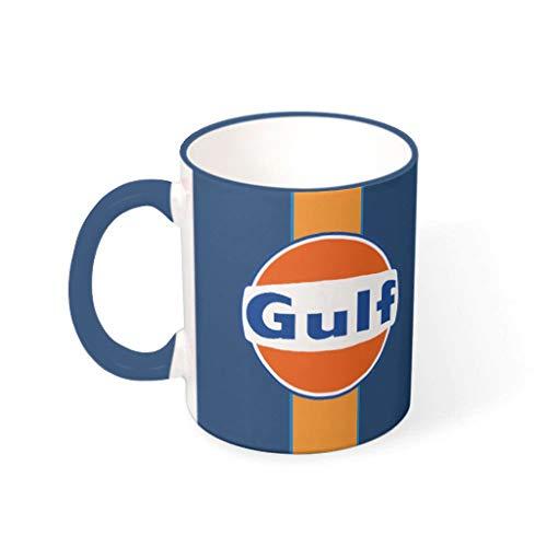 O5KFD&8 11 Oz Wasser Kaffee Mug mit Griff Hochwertige Keramik Humor Becher - Orange Gulf Frauen Geschenke, für Wohnheim verwenden Midnight Blue 330ml