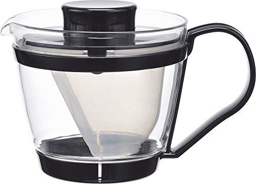 iwaki(イワキ) 耐熱ガラス ティーポット レンジのポット 茶器 400ml KT863-BK