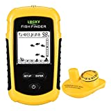 LUCKY Castable Wireless Fish Finder Kayak Portable Ice Fish Finders Handheld LCD Display Depth Finder Boat