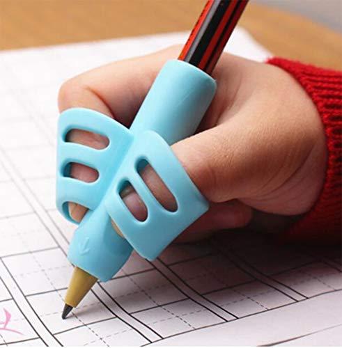 3 Grips Pour Crayon, Aide Ecriture Guide Doigt pour apprendre à bien tenir son crayon pour écrire et dessiner