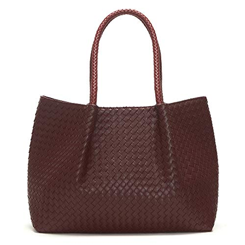 Lulu Dharma Napa Vegan Leather Tote-Burgundy Wine