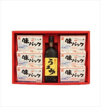 カネイ醤油 うまみ1本・味パック6箱セット[AU-470]