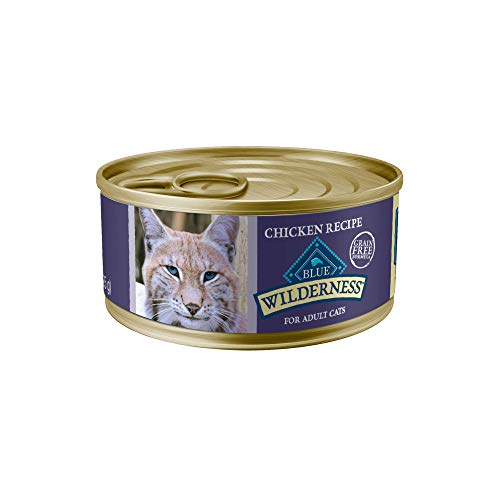 Blue Buffalo Wilderness High Protein Grain Free, Natural Adult Pate Wet Cat Food, Chicken 5.5-oz cans (Pack of 24)