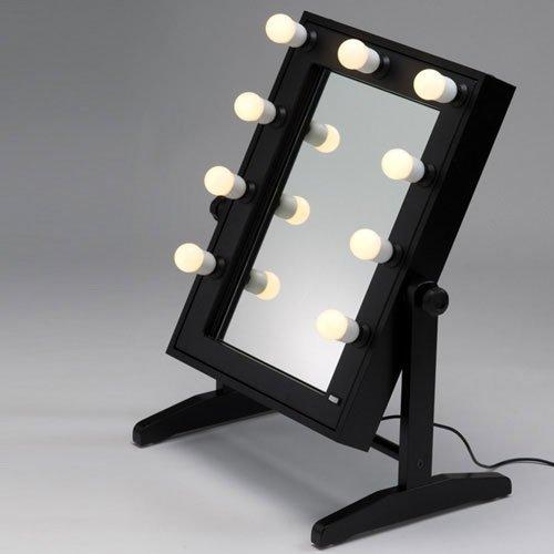 Miroir sur pieds, table de maquillage professionnel Cantoni