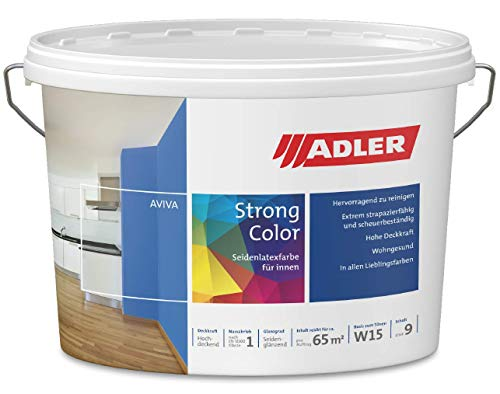 ADLER Aviva Strong-Color - 3 L - Latexfarbe RAL6021 Blassgrün - abriebfest