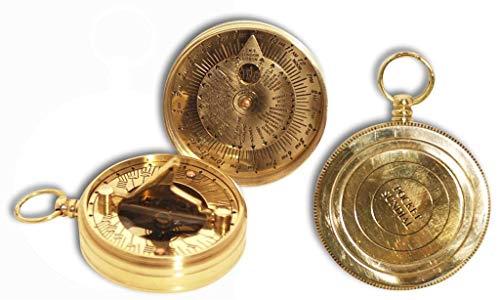 Vidal Regalos Reloj Solar con brujula de Bolsillo Laton 6 cm
