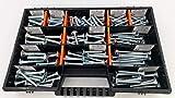 115 tlg Flachkopf - Schlossschrauben Sortiment Schraubenbox Schraubenkoffer Set