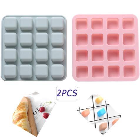 QQBB EiswürfelformSilikon,Ice Cube Tray Stapelbar Eiswürfelschalen Eiswürfel Babynahrung LFGB Zertifiziert, 16-Fach