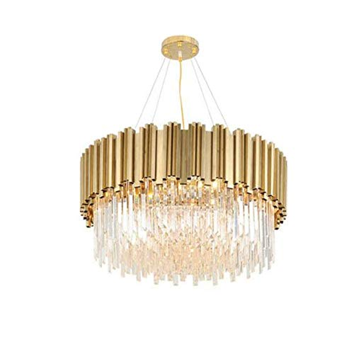 Modern Luxury Crystal Chandeliers,Oval Raindrop Pendant Light Contemporary Kitchen Island Ceiling Lights Fixtures for Dining Living Room Bedroom Foyer ( Color : Plated Copper , Size : 55*35cm )