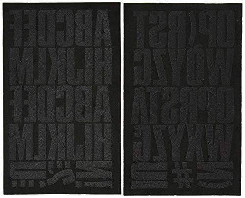 S·E·I SEI Block Letter Transfers 2' 2 Sheets/Pkg, Black