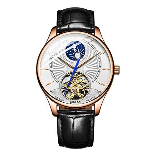 Mechanische Uhren Business Men Watch wasserdichte Uhr Herrenmode Armbanduhr Automatische Hohluhr Tag und Nacht Sternserie-Stil: 1