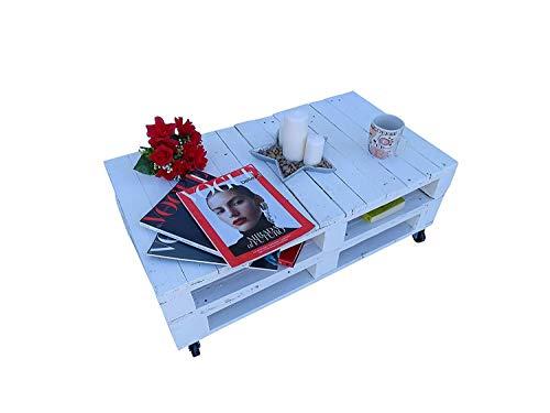 Dydaya Home Mesa de Palets - Muebles con pallets de Madera - Mobiliario Rustico (80 x 50 x 35)