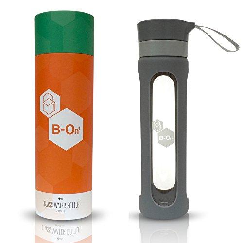 B on 1 bouteille en verre – Fruits Infusé Eau, Nettoyant et plus Sain Moyen pour boisson. rester Hydratée, gris