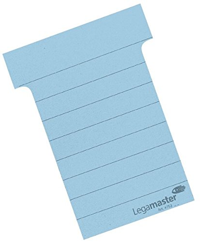 Legamaster 7-475303 T-Karten, Karton, 100 Stk.., 91 x 105 mm, blau