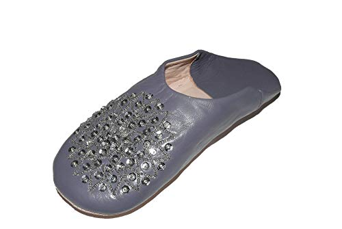 Marrakech Accessoires Orientalische Schuhe Babouche Hausschuhe Pantoffel Slipper aus Marokko - Damen - 905363-0041, Schuhgrösse:41