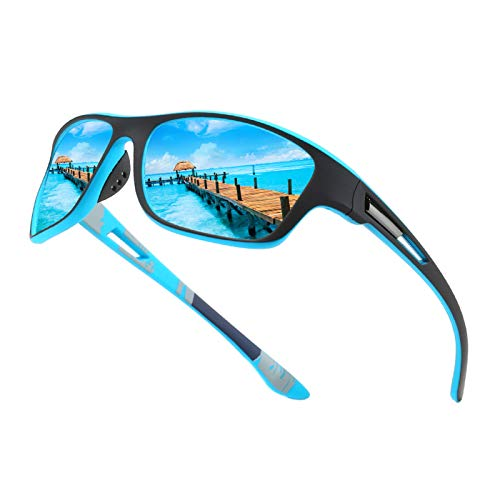 Hemens Polarisierte Sportbrille Sonnenbrille Herren fahrradbrille damen mit UV400 Schutz für Autofahren Laufen Radfahren Angeln Golf Sonnenbrille