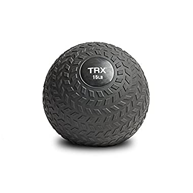 TRX Training Slam Ball with Easy-Grip Textured Surface and Ultra-Durable Rubber Shell (15 Pound)