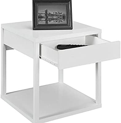 Swell Amazon Com Square Parsons End Table With Storage Drawer Download Free Architecture Designs Lukepmadebymaigaardcom