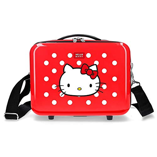 Hello Kitty Castle Nececer Adaptable Rojo 29x21x15 cms ABS