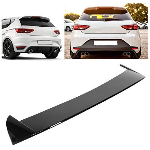 KIMISS Spoiler Posteriore per Auto, Spoiler per Tettuccio per Seat Leon 5F Mk3 5 Porte 2013-2020 Nero Lucido