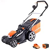 Yard Force 40V 37cm Cordless <span class='highlight'>Lawn</span>mower with lithium ion battery & quick charger LM G37A - GR 40 range